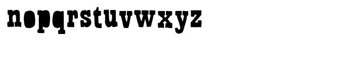 Bandoliers Dizzy Font LOWERCASE