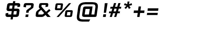 Bank Sans Caps EF EL Medium Oblique Font OTHER CHARS