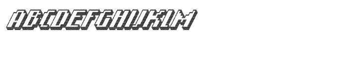Banner 92 Black Outline Font UPPERCASE