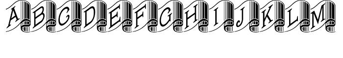 Banner Year NF Regular Font UPPERCASE