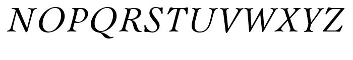 Bannikova Italic Font UPPERCASE
