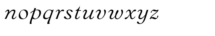 Bannikova Italic Font LOWERCASE