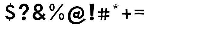 Barack Medium Font OTHER CHARS