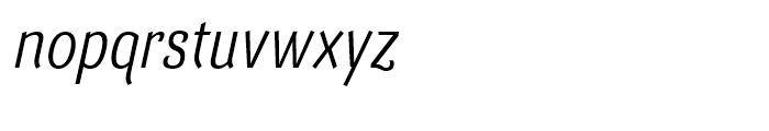 Barcis Condensed Regular Italic Font LOWERCASE