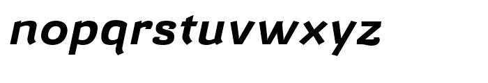 Barcis Expanded Bold Italic Font LOWERCASE
