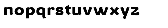 Barcis Expanded Extrabold Font LOWERCASE
