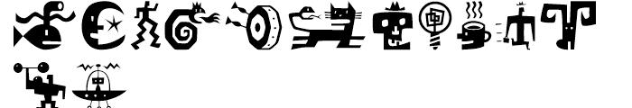 Bartalk Regular Font LOWERCASE