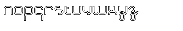 Basix Heavy Outline Font LOWERCASE