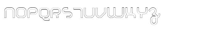 Basix Medium Outline Font UPPERCASE