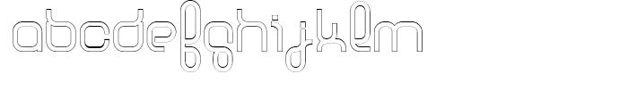 Basix Medium Outline Font LOWERCASE