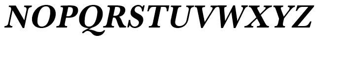 Baskerville Bold Narrow Oblique Font UPPERCASE