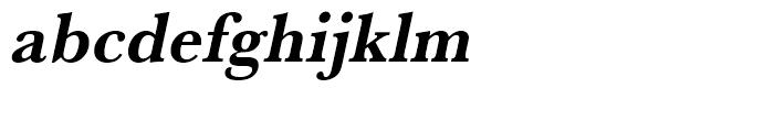 Baskerville Bold Narrow Oblique Font LOWERCASE