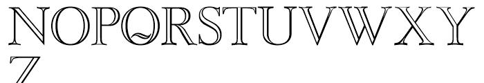 Baskerville Caps Regular Font UPPERCASE