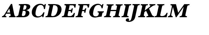 Baskerville Extra Bold Oblique Font UPPERCASE