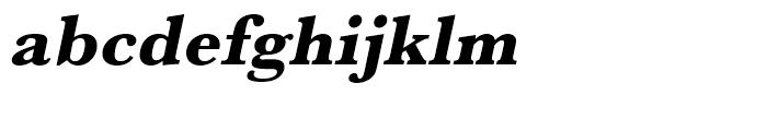 Baskerville Extra Bold Oblique Font LOWERCASE