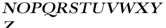 Baskerville Medium Extra Wide Oblique Font UPPERCASE