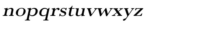 Baskerville Medium Extra Wide Oblique Font LOWERCASE