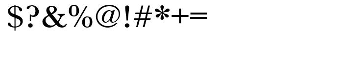Baskerville Medium Extra Wide Font OTHER CHARS