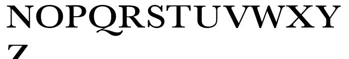 Baskerville Medium Extra Wide Font UPPERCASE