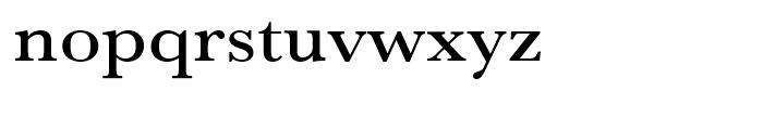 Baskerville Medium Extra Wide Font LOWERCASE