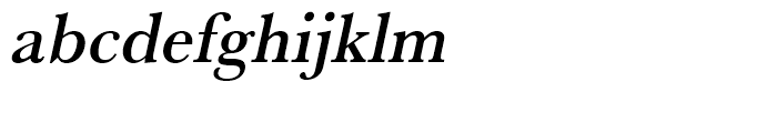 Baskerville Medium Narrow Oblique Font LOWERCASE