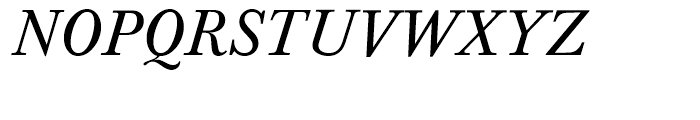 Baskerville Regular Italic Font UPPERCASE
