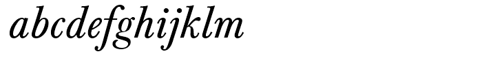 Baskerville Regular Italic Font LOWERCASE