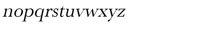 Baskerville Regular Oblique Font LOWERCASE
