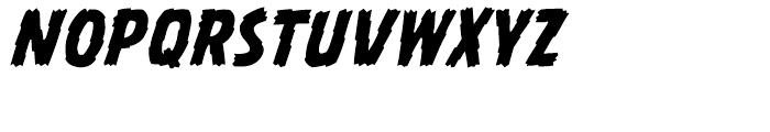 Battle Damaged Italic Font LOWERCASE