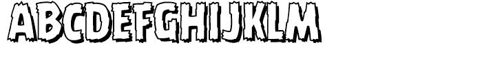 Battle Damaged Open Font UPPERCASE