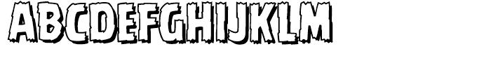 Battle Damaged Open Font LOWERCASE