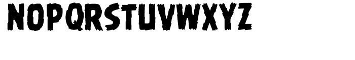 Battle Damaged Regular Font UPPERCASE