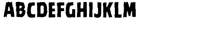 Battle Damaged Regular Font LOWERCASE