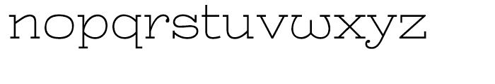 Battleslab Light Font LOWERCASE