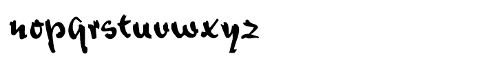 Bazar Regular Font LOWERCASE