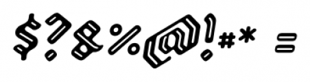 Backyard Italic Font OTHER CHARS