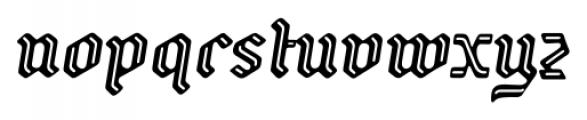 Backyard Italic Font LOWERCASE