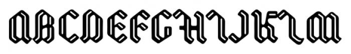 Backyard Regular Font UPPERCASE