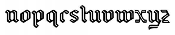 Backyard Regular Font LOWERCASE