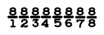 Baltimore Typewriter Fractions Font OTHER CHARS