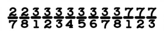 Baltimore Typewriter Fractions Font UPPERCASE