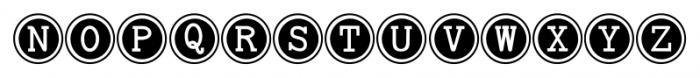 Baltimore Typewriter Keys Font UPPERCASE