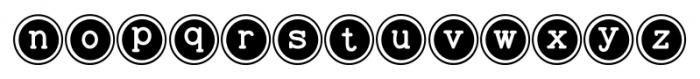 Baltimore Typewriter Keys Font LOWERCASE
