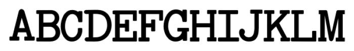Baltimore Typewriter Regular Font UPPERCASE
