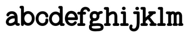 Baltimore Typewriter Regular Font LOWERCASE