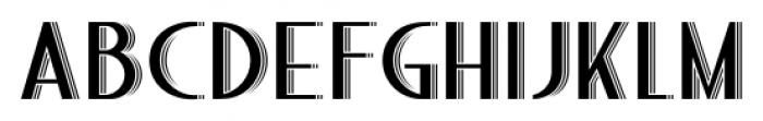 Bandoengsche Deco Font UPPERCASE
