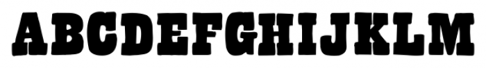 Bandoliers Beefy Font UPPERCASE