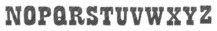 Bandoliers Jailed Font UPPERCASE