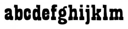 Bandoliers Shaved Font LOWERCASE