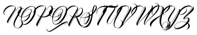 Bandung Regular Font UPPERCASE
